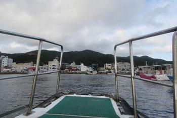 ⑤古仁屋の港へ