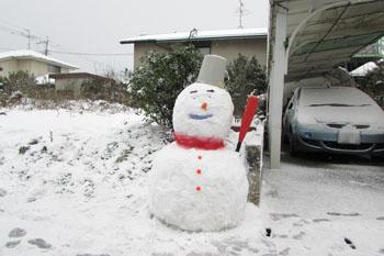 写真④雪だるま