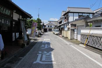 写真①吉井町の裏通り