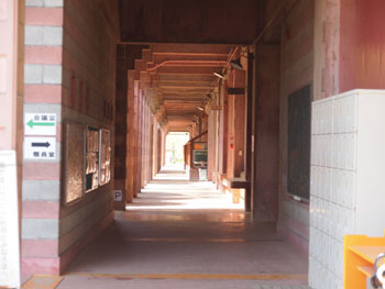 42-3-校庭へ繋がる渡り廊下部分。今帰仁村中央公民館や名護市役所との共通性が濃厚。-s
