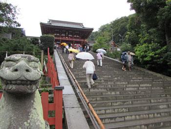 写真④雨の鶴岡八幡宮