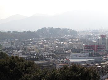 写真①別府、山からの眺め